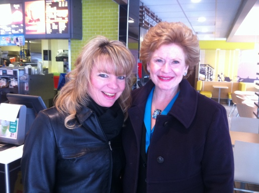 Bumping into U.S. Sen. Debbie Stabenow at the Ishpeming McDonald's!