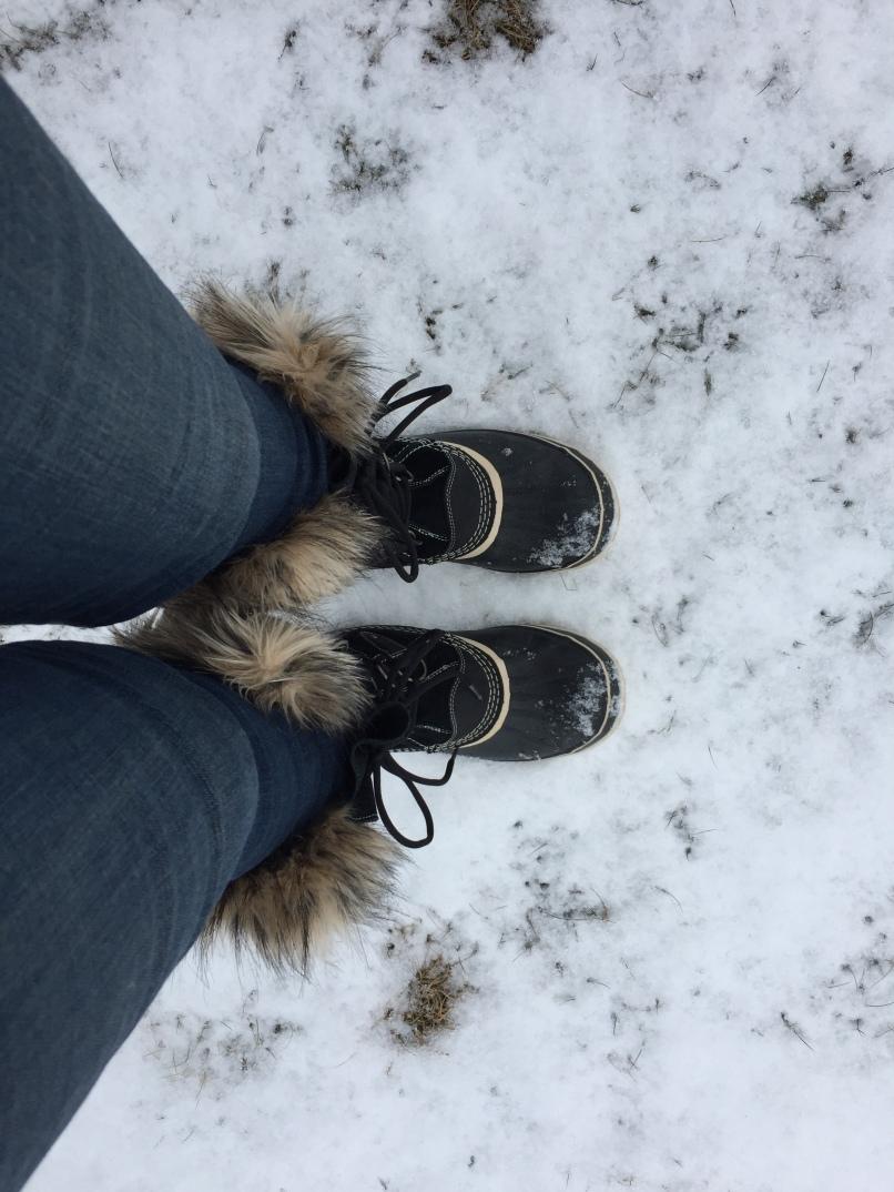 Big warm boots, lotsa U.P. snow, eh?
