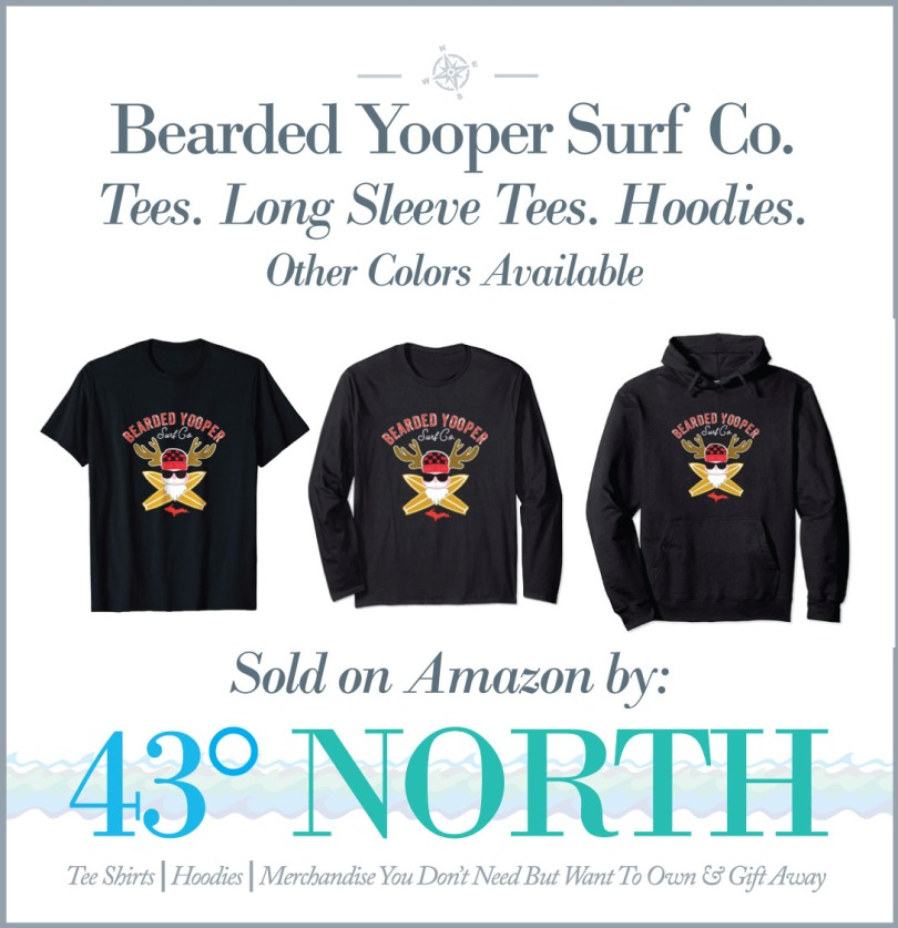 3625 x 375 ad--43 degrees north--amazon--bearded yooper