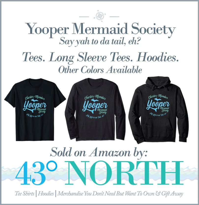 3625 x 375 ad--43 degrees north--amazon--yooper mermaid