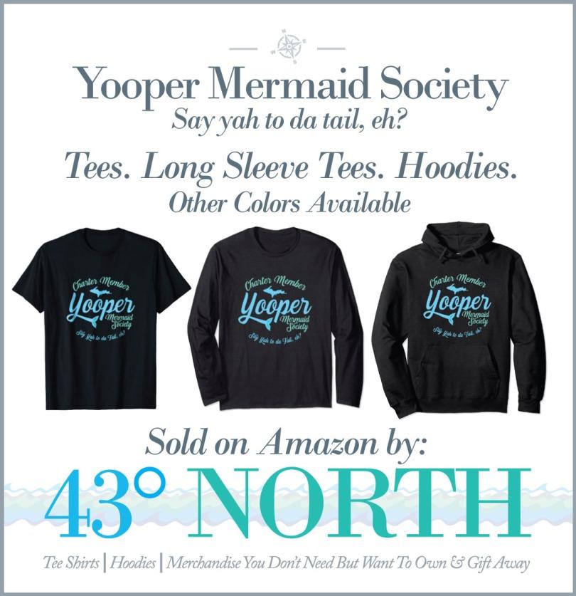 3625 x 375 ad--43 degrees north--amazon--yooper mermaid
