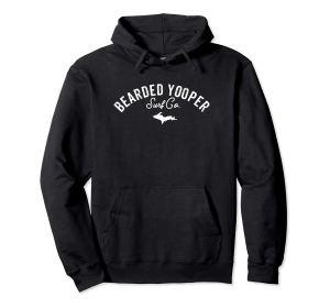 bearded yooper words only black hoodie