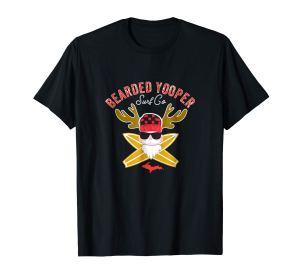 beareded yooper cartoon tee black