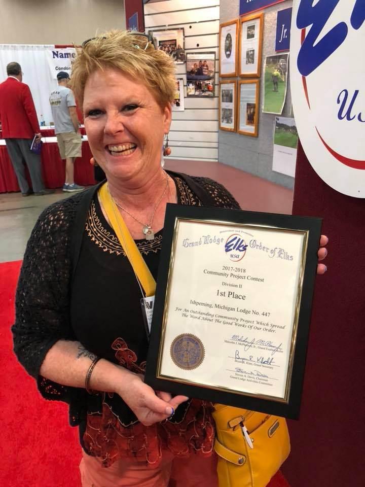 Dawn Lambert Elks award
