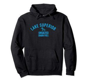 lake superior unsalted--hoodie--blakc
