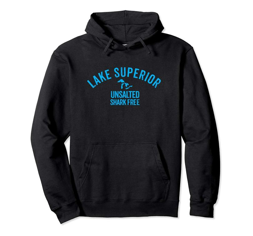 lake superior unsalted--hoodie--blakc
