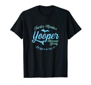 yooper mermaid society tee shirt
