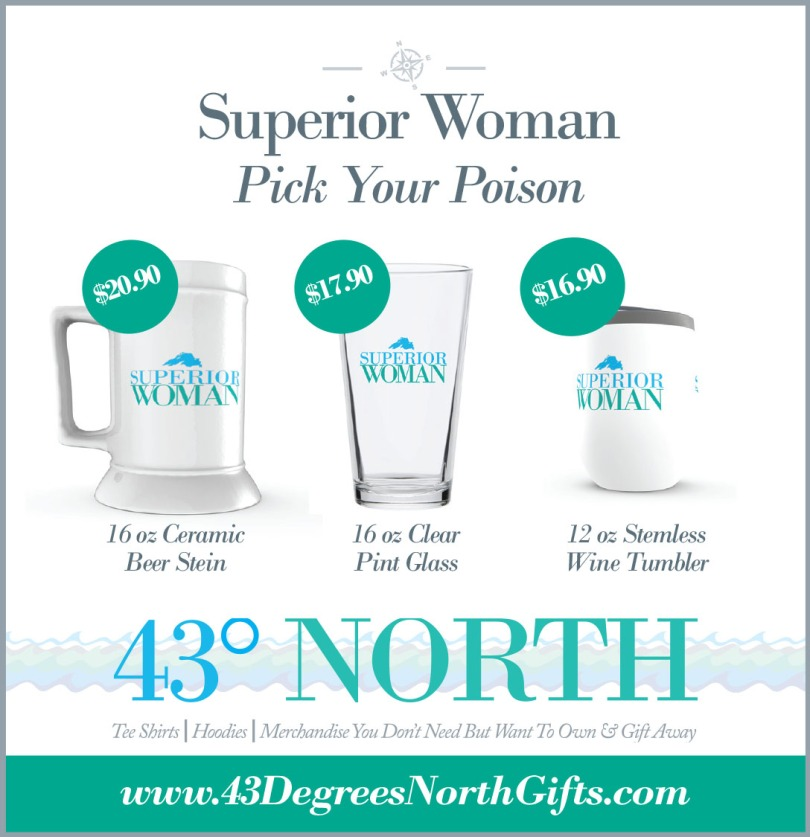 3625 x 375 ad--43 degrees north--superior woman alcohol containe