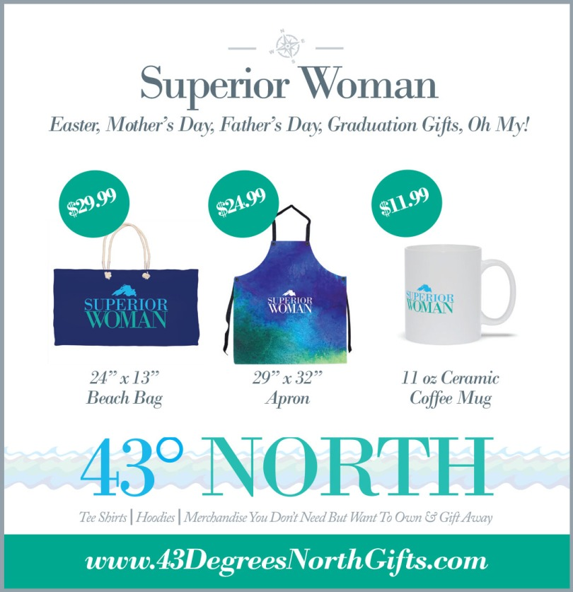 3625 x 375 ad--43 degrees north--superior woman apron n stuff--w